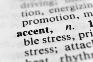Dictionary entry of the word ACCENT